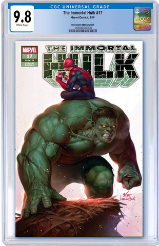 IMMORTAL HULK #17 IN HYUK LEE TRADE DRESS LIMITED TO 3000 CGC 9.8 PREORDER