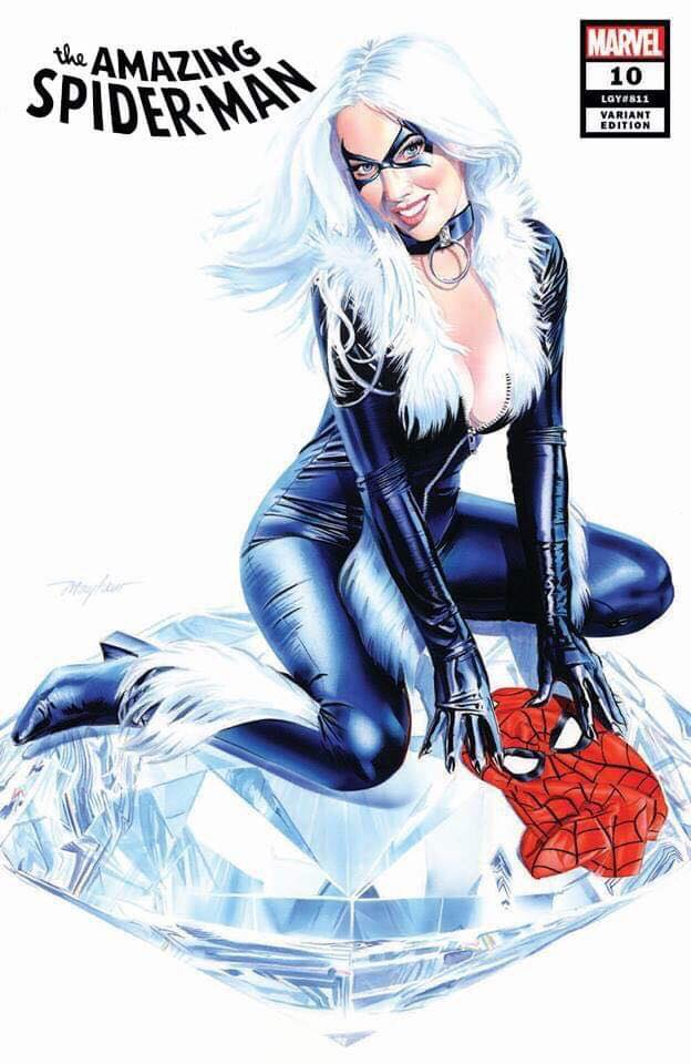 AMAZING SPIDER-MAN #10 MIKE MAYHEW BLACK CAT VARIANT LIMITED TO 1000 WITH NUMBERED COA