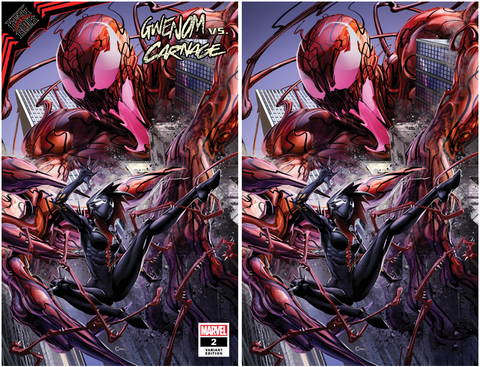 KING IN BLACK GWENOM VS CARNAGE #2 CLAYTON CRAIN EXCLUSIVE TRADE/VIRGIN VARIANT SET