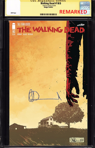 WALKING DEAD #193 CGC SS REMARKED BY CHARLIE ADLARD PREORDER