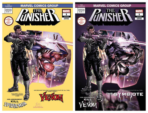 PUNISHER #1 CLAYTON CRAIN SPIDER-MAN 129 HOMAGE VARIANT SET