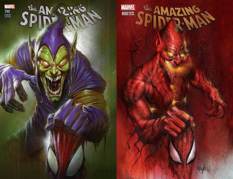 AMAZING SPIDER-MAN #799 & 800 LUCIO PARRILLO TRADE DRESS VARIANT SET LIMITED TO 3000
