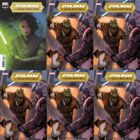 03/02/2021 STAR WARS HIGH REPUBLIC #2 1:25 WITTER VARIANT & 5 COPIES OF COVER A BUNDLE