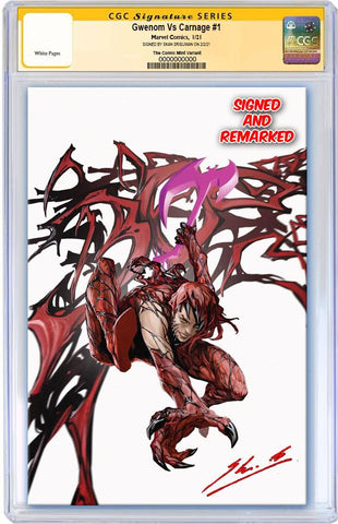 GWENOM VS CARNAGE #1 SKAN SRISUWAN CARNAGIZED MJ ASM 300 HOMAGE VIRGIN VARIANT LIMITED TO 1000 CGC REMARK PREORDER