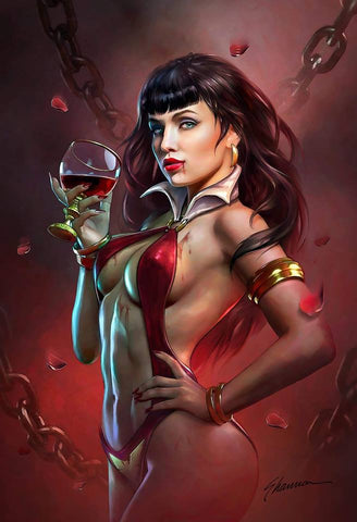 VAMPIRELLA VALENTINES DAY SPECIAL #1 SHANNON MAER VIRGIN VARIANT LIMITED TO 500 COPIES WORLDWIDE