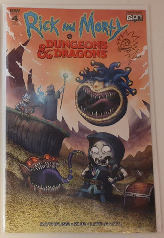 RICK & MORTY VS DUNGEONS & DRAGONS #4 (OF 4) MIKE VASQUEZ VARIANT LIMITED TO 500 SIGNED & REMARKED