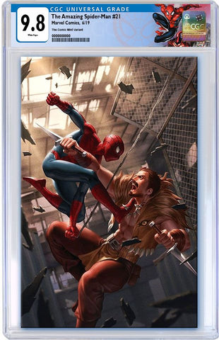 AMAZING SPIDER-MAN #21 JUNGGEUN YOON VIRGIN VARIANT LIMITED TO 500 CGC 9.8 SPIDERMAN LABEL PREORDER