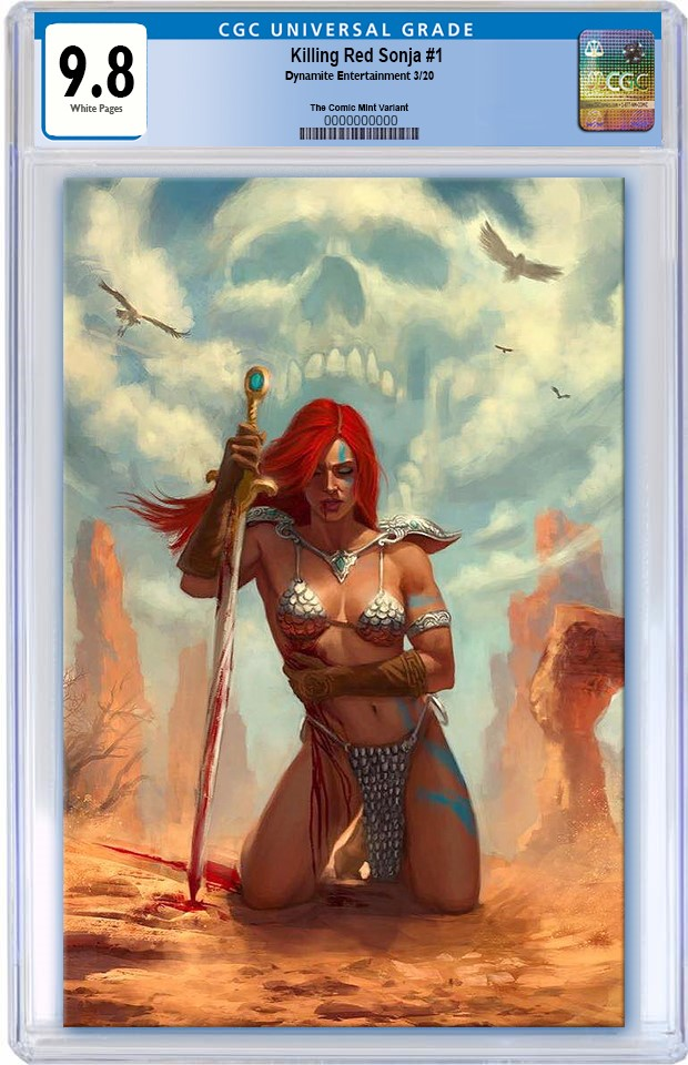 KILLING RED SONJA #1 AARON BARTLING VIRGIN VARIANT LIMITED TO 500 CGC 9.8 PREORDER
