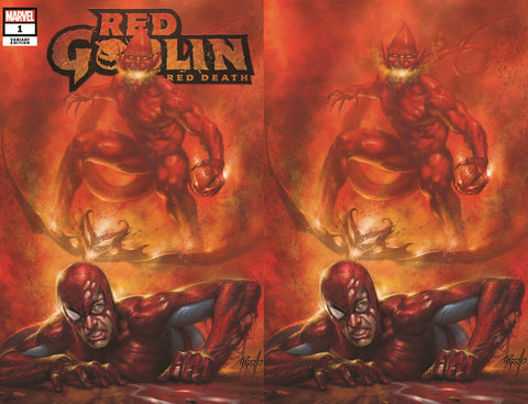 RED GOBLIN RED DEATH #1 LUCIO PARRILLO TRADE DRESS/VIRGIN VARIANT SETS LIMITED TO 600 SETS WITH NUMBERED COA