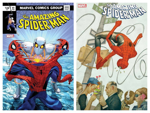 AMAZING SPIDER-MAN #61 MIKE MAYHEW ASM 238 HOMAGE VARIANT LIMITED TO 800 WITH NUMBERED COA & 1:25 TEDESCO VARIANT
