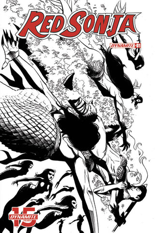 RED SONJA #1 1:50 SEDUCTION B&W VARIANT
