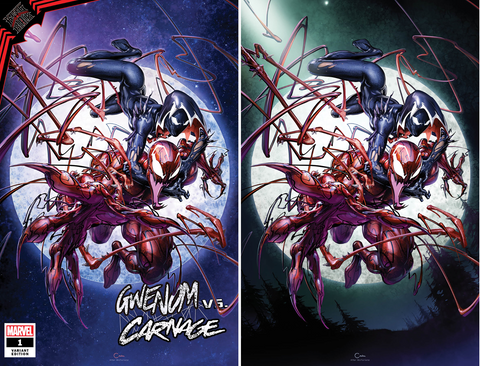 KING IN BLACK GWENOM VS CARNAGE #1 CLAYTON CRAIN TRADE/VIRGIN VARIANT SET
