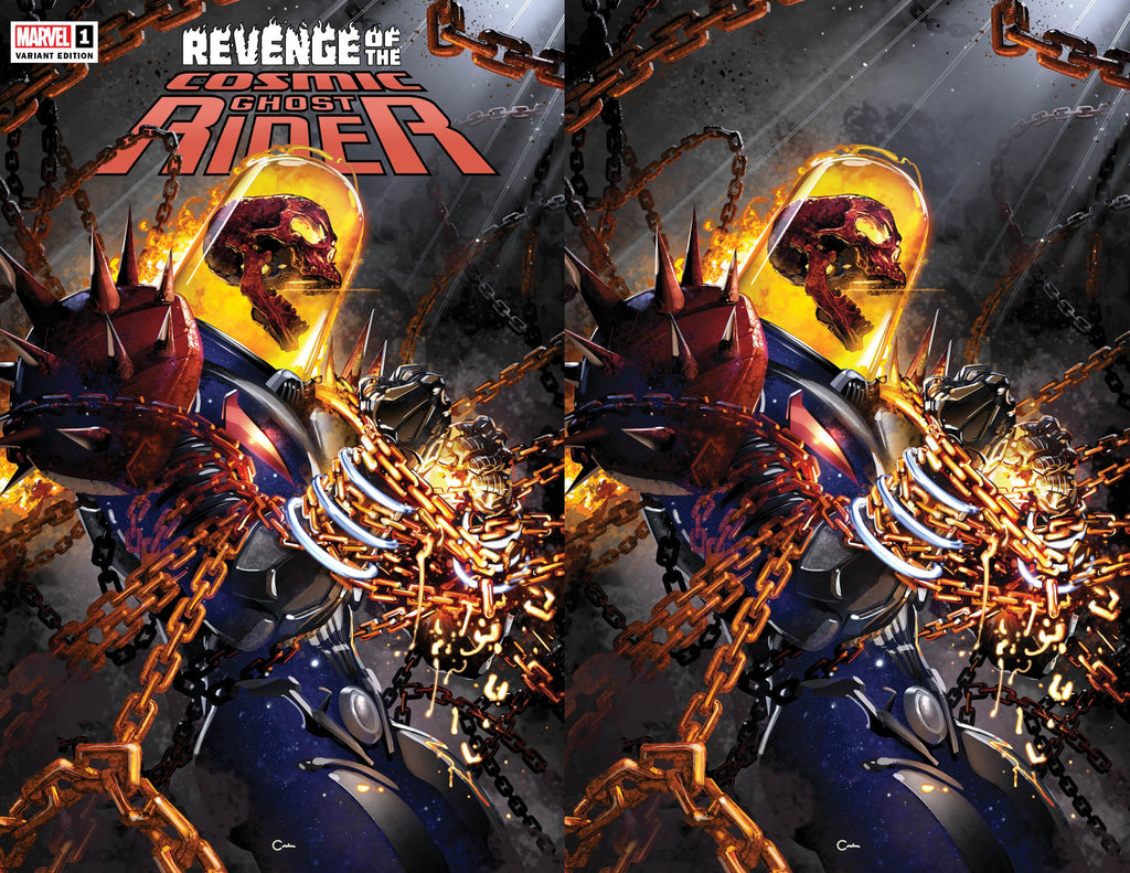 REVENGE OF COSMIC GHOST RIDER #1 CLAYTON CRAIN TRADE/VIRGIN VARIANT SET LIMITED TO 666 SETS WITH NUMBERED COA