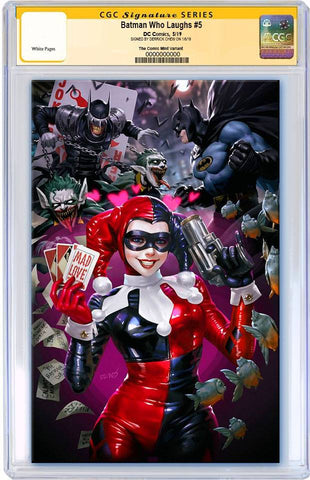 BATMAN WHO LAUGHS #5 DERRICK CHEW MAD LOVE HOMAGE VIRGIN VARIANT LIMITED TO 800 CGC SS PREORDER