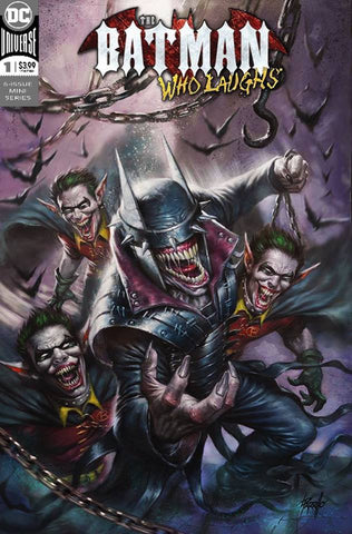 BATMAN WHO LAUGHS #1 LUCIO PARRILLO TRADE DRESS VARIANT LIMITED TO 3000