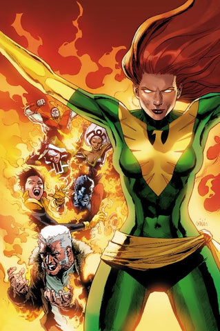 PHOENIX RESURRECTION RETURN JEAN GREY #1 (OF 5) 1:100 YU GREEN COSTUME VARIANT