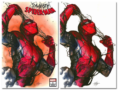 SYMBIOTE SPIDER-MAN #1 GABRIELE DELL'OTTO TRADE/VIRGIN VARIANT SET LIMITED TO 600 SETS WITH NUMBERED COA