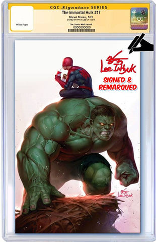 IMMORTAL HULK #17 IN HYUK LEE VIRGIN VARIANT LIMITED TO 600 CGC SS REMARK