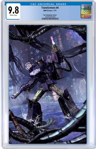 TRANSFORMERS #4 JOHN GALLAGHER BATTLE READY SHOCKWAVE VIRGIN VARIANT LIMITED TO 600 CGC 9.8 PREORDER