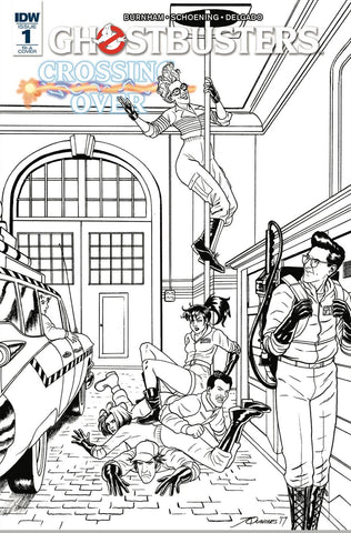 GHOSTBUSTERS CROSSING OVER #1 1:10 SKETCH VARIANT