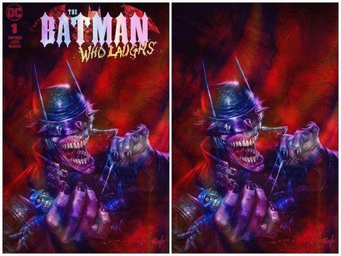 BATMAN WHO LAUGHS #1 LUCIO PARRILLO C2E2 FOIL VARIANT SET LIMITED TO 500 SETS WITH NUMBERED CoA