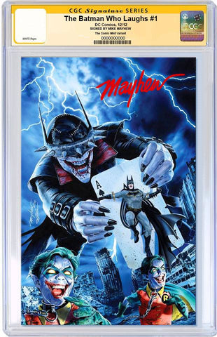 BATMAN WHO LAUGHS #1 MIKE MAYHEW MODERN VIRGIN VARIANT LIMITED TO 700 CGC SS PREORDER