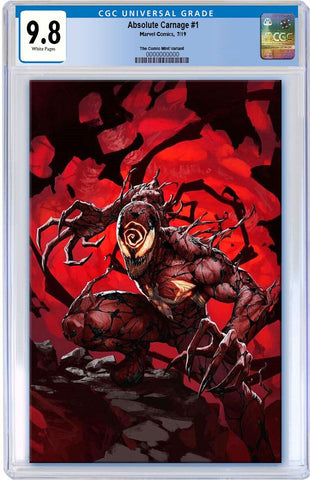 ABSOLUTE CARNAGE #1 SKAN SRISUWAN VIRGIN LIMITED TO 600 CGC 9.8 PREORDER