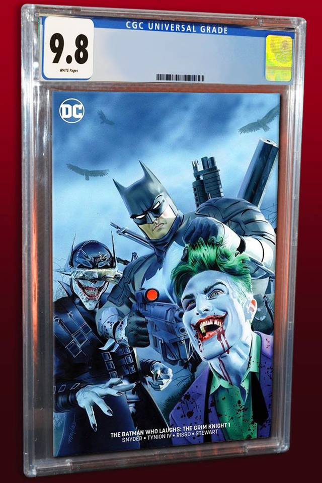 BATMAN WHO LAUGHS THE GRIM KNIGHT #1 MIKE MAYHEW MINIMAL TRADE VARIANT LIMITED TO 700 CGC 9.8 PREORDER