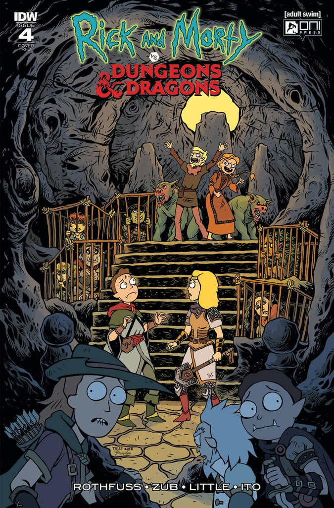 Rick and Morty vs Dungeons /& Dragons #1 Variant Troy Little Cover