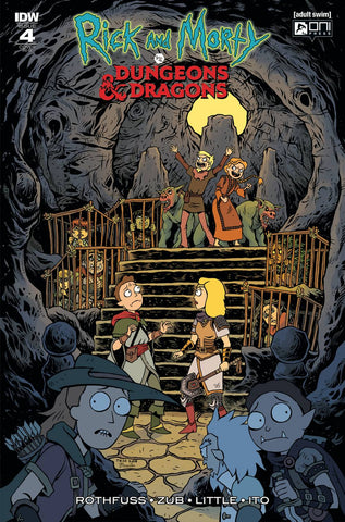 RICK & MORTY VS DUNGEONS & DRAGONS #4 (OF 4) 1:20 TESS FOWLER VARIANT