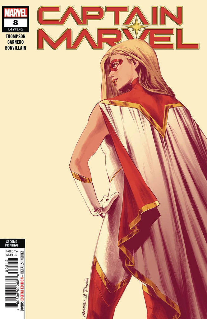 21/08/2019 CAPTAIN MARVEL #8 2ND PTG CARNERO NEW ART VARIANT 1ST COVER APP OF STAR