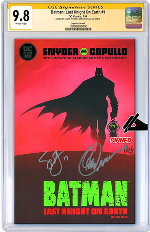 BATMAN LAST KNIGHT ON EARTH #1 CGC 9.8 SS SIGNED SCOTT SNYDER & GREG CAPULLO (PREORDER)