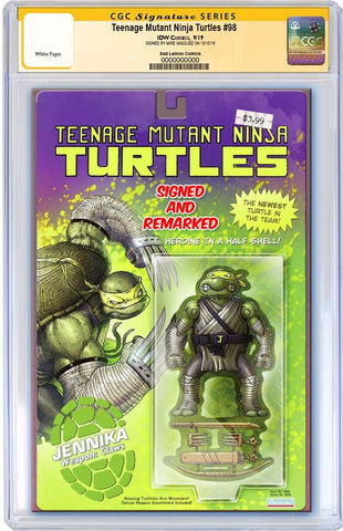 TMNT #98 MIKE VASQUEZ JENNIKA ACTION FIGURE VARIANT LIMITED TO 800 CGC REMARK PREORDER