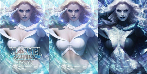 MARVEL COMICS #1000 ARTGERM VARIANT TRADE DRESS/VIRGIN/BLACK QUEEN VIRGIN SET