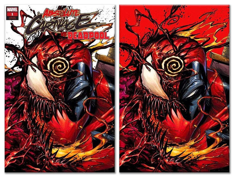 ABSOLUTE CARNAGE VS DEADPOOL #1 TYLER KIRKHAM TRADE DRESS/RED VIRGIN VARIANT SET LIMITED TO 1000 SETS