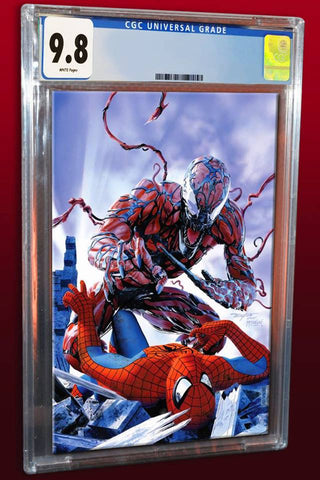 WEB OF VENOM CARNAGE BORN #1 MIKE MAYHEW SPIDER-MAN HOMAGE TRADE DRESS LIMITED TO 1000 CGC 9.8 PREORDER
