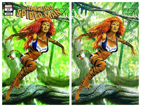 AMAZING SPIDER-MAN #17 MIKE MAYHEW TIGRA TRADE DRESS/VIRGIN VARIANT SET