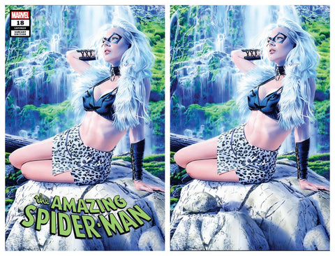 AMAZING SPIDER-MAN #18 MIKE MAYHEW BLACK CAT TRADE DRESS/VIRGIN VARIANT SET