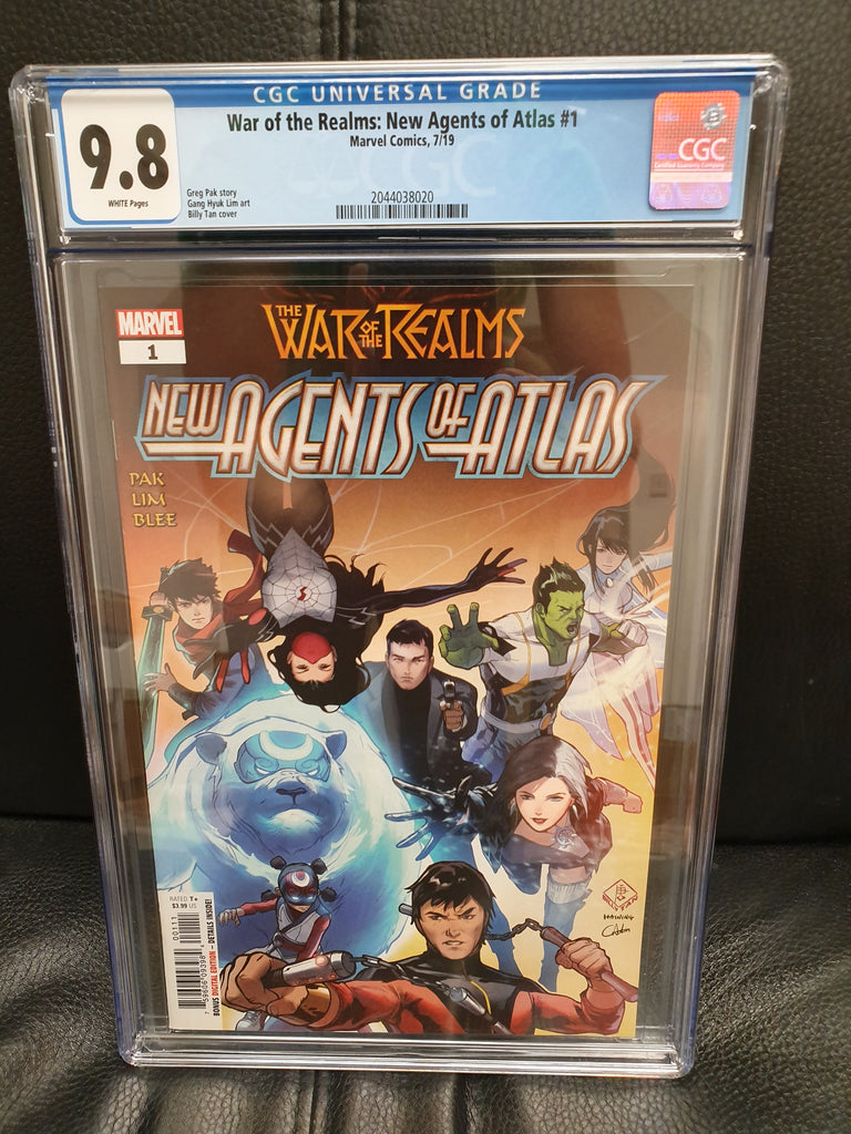 WAR OF REALMS NEW AGENTS OF ATLAS #1 (OF 4) CGC 9.8