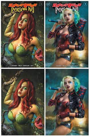 HARLEY QUINN & POISON IVY #1 SHANNON MAER POISON IVY/HARLEY QUINN TRADE/VIRGIN VARIANT SET LIMITED TO 800 SETS WITH NUMBERED COA