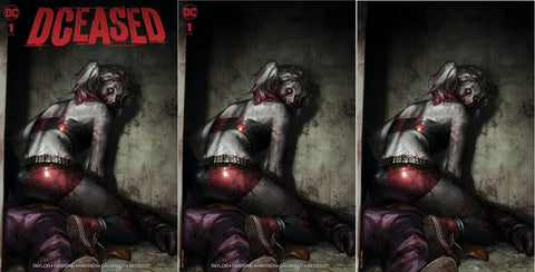 DCEASED #1 JEEHYUNG LEE TRADE DRESS/MINIMAL TRADE/VIRGIN VARIANT SET LIMITED TO 1000 SETS