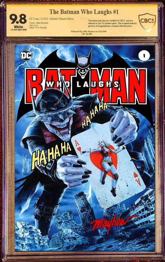 BATMAN WHO LAUGHS #1 MIKE MAYHEW HOMAGE TRADE DRESS VARIANT LIMITED TO 250 CBCS SS 9.8 ULTIMATE EDITION