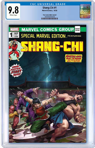 SHANG-CHI #1 DERRICK CHEW HOMAGE VARIANT LIMITED TO 1000 COPIES WITH NUMBERED COA CGC 9.8 PREORDER