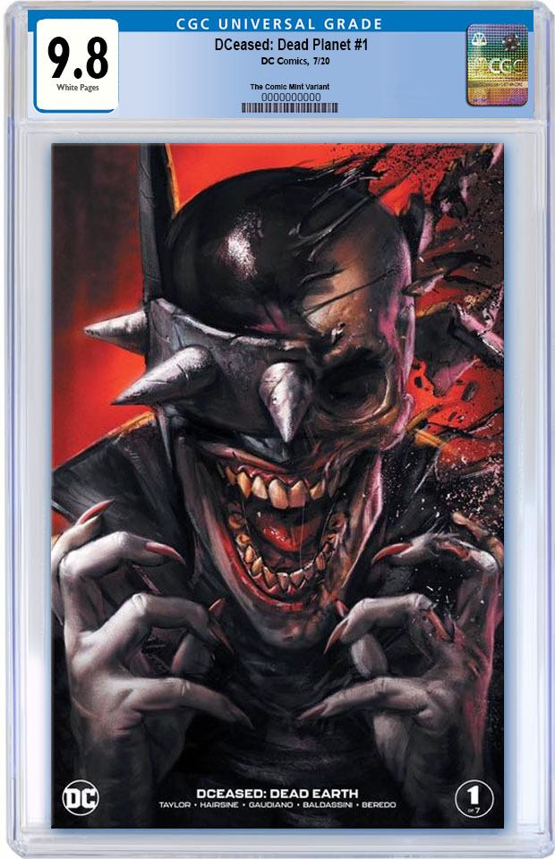 DCEASED DEAD PLANET #1 IAN MACDONALD BATMAN WHO LAUGHS VARIANT