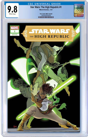 STAR WARS HIGH REPUBLIC #1 AARON KUDER VARIANT LIMITED TO 600 WITH NUMBERED COA CGC 9.8 PREORDER