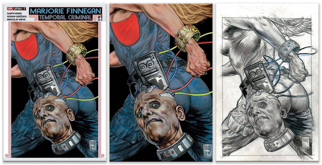 MARJORIE FINNEGAN TEMPORAL CRIMINAL #1 GLENN FABRY TRADE/VIRGIN/SKETCH VARIANT SET LIMITED TO 225 SETS