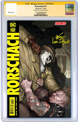 RORSCHACH #1 INHYUK LEE VARIANT LIMITED TO 600 COPIES WITH NUMBERED COA CGC SS PREORDER