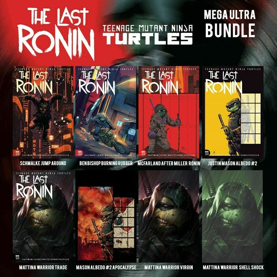 TMNT THE LAST RONIN #1 (OF 5) EXCLUSIVE MEGA ULTRA 8 COVER BUNDLE