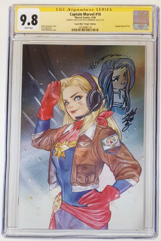 CAPTAIN MARVEL #16 PEACH MOMOKO THANK YOU VARIANT VIRGIN LIMITED TO 600 CGC 9.8 SS REMARK