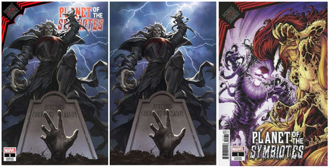 KING IN BLACK PLANET OF SYMBIOTES #1 SKAN SRISUWAN TRADE/VIRGIN VARIANT SET LIMITED TO 800 SETS WITH COA & 1:25 NUACK VARIANT